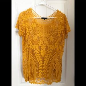 Tops - Embroidered Knitted Top, Like New